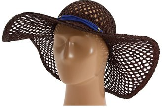 Juicy Couture Open Work Straw Hat (Tobacco) - Hats
