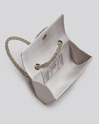 Badgley Mischka Shoulder Bag - Corinne Silk with Brooch