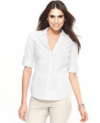 INC International Concepts Shirt, Short-Sleeve Button-Down