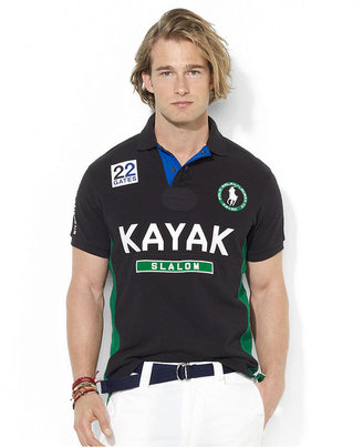 Polo Ralph Lauren Shirt, Custom-Fit Short-Sleeved River Slalom Mesh Polo
