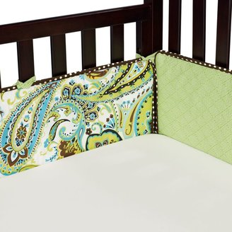 My Baby Sam Paisley Splash Crib Bumper in Lime