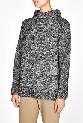 Vanessa Bruno Mohair Wool Knit Tweed Roll Neck Jumper