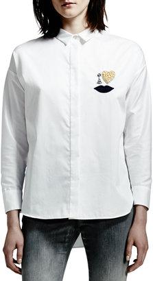 Stella McCartney Cotton Poplin Blouse, White