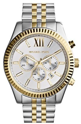 Michael Kors Large Lexington Chronograph Bracelet Watch, 45Mm $275 thestylecure.com