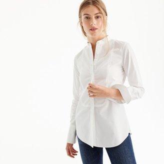 Thomas Mason® for J.Crew mandarin-collar tuxedo shirt $138 thestylecure.com