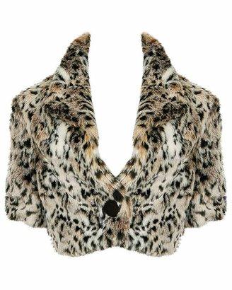 Forever 21 Snow Leopard Shrug