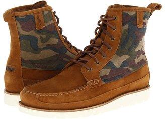 Polo Ralph Lauren Stratford (Brown/Camo Print/Cream) - Footwear