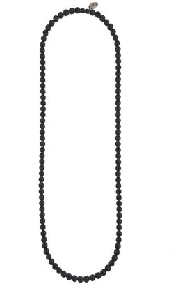 Cara Accessories Beaded Black Necklace