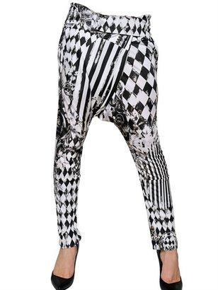 Balmain Printed Viscose Jersey Harem Trousers