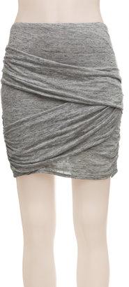 Max Studio Heathered Jersey Skirt