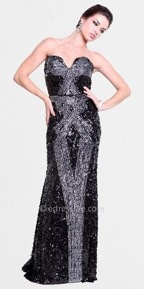Atria Long Sequin Evening Gowns
