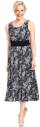 Jessica Howard Sleeveless Floral-Print Dress and Jacket