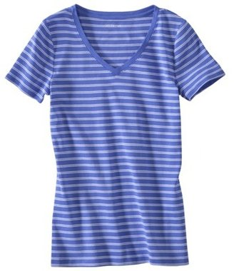 Merona Women's Ultimate V-Neck Tee - Stripes