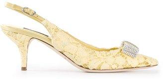 Dolce & Gabbana Swarovski crystal bow pumps