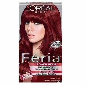 L'Oreal Feria Permanent Haircolor, Intense Deep Auburn/Red Velvet (R48)