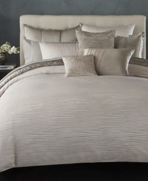 Donna Karan Closeout! Home Reflection Silver King Quilt Bedding