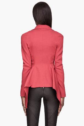 Gareth Pugh Red Frill Hem Jacket