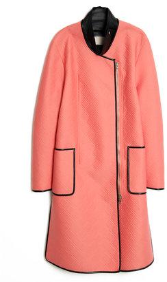 3.1 Phillip Lim Quilted Leather-Insert Coat