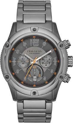 Claiborne Mens Gunmetal Chronograph Watch