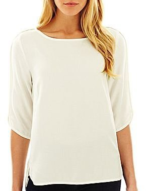 Mng by Mango® Half Sleeve High-Low Blouse