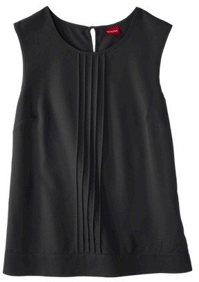 Merona Women's Sleeveless Pleated Front Blouse - Assorted Colors