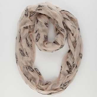 Figure 8 Flocked Feather Infinity Scarf
