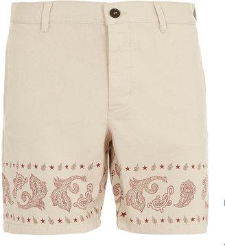 Topman Stone Print Shorts