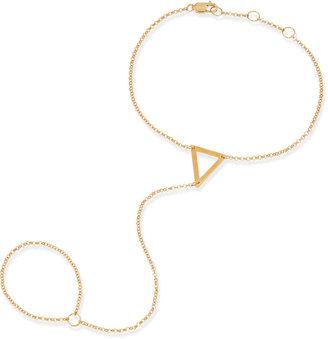 Jennifer Zeuner Jewelry Kassandra Triangle Hand Chain