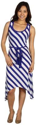 Culture Phit Elisia Stripe Dress (Royal) - Apparel