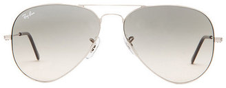 Ray-Ban Aviator in Metallic Silver. $165 thestylecure.com