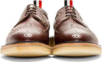 Thom Browne Maroon Leather Longwing Brogues