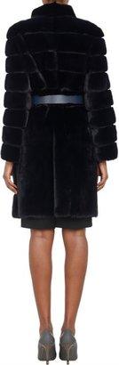 Fendi Belted Mink Coat-Blue