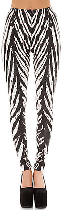 Evil Twin The Hypnotic State Leggings in Black and White