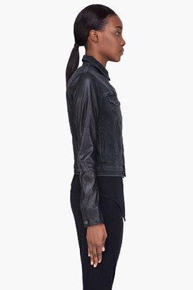 Rag and Bone RAG & BONE black Denim and Leather jacket