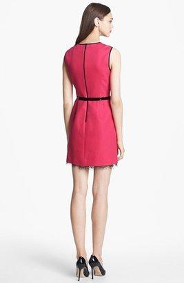 Nordstrom Miss Wu Lace Hem Twill Dress Exclusive)