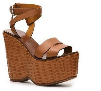 Ralph Lauren Erala Leather Wedge Sandal