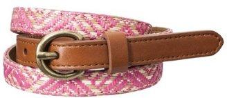 Mossimo Straw Weave Belt - Pink