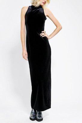 MinkPink There She Goes Velvet Maxi Dress