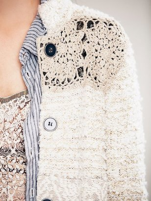 Free People Twinkle Toes Maxi Sweater Coat
