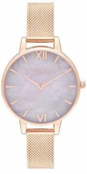 Olivia Burton Semi Precious Rose Goldtone Watch