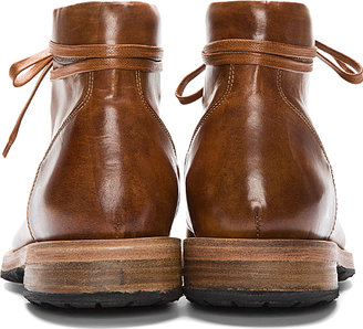 Paul Smith Tan Leather Beat Up Stubbs Boots