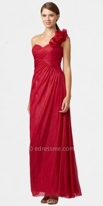 Aidan Mattox One-shoulder Chiffon Prom Dresses with Floral Details from Aidan