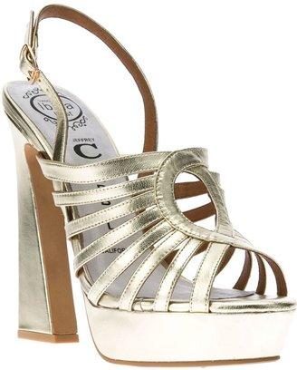 Jeffrey Campbell metallic platform sandal
