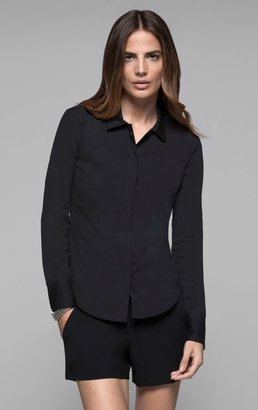 Theory Freja Shirt in Wealth Stretch Cotton