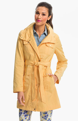 Ellen Tracy Fly Front Trench Coat (Regular & Petite)