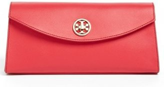 Tory Burch 'Austin' Saffiano Leather Flap Clutch