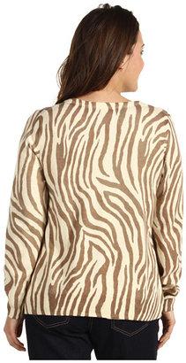 Lucky Brand Plus Size Zebra Print Cardigan