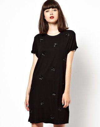 Jaeger Boutique by Jersey Dress with Polka Dot Sequins