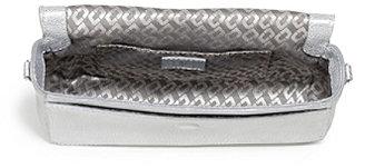 Diane von Furstenberg Flirty Mini Crossbody Metallic Bag In Pewter