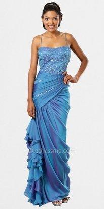 Mignon Sequin Sweetheart Draped Evening Dresses